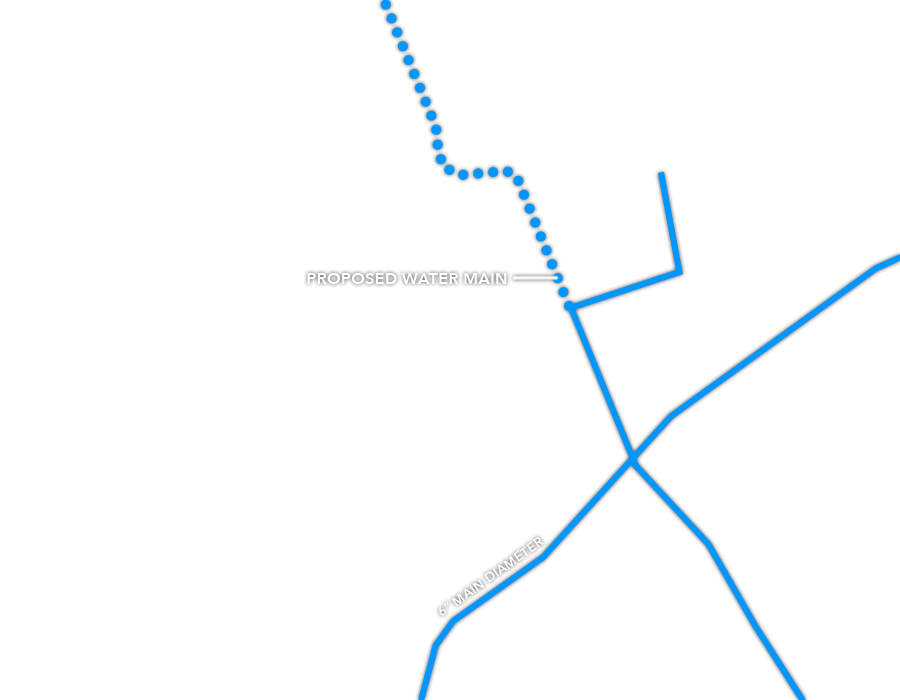 Capps II Industrial Site Water lines