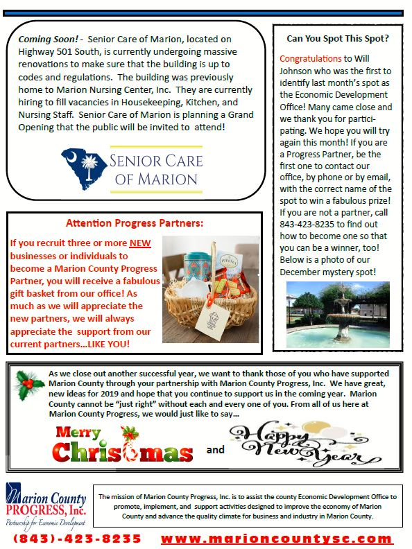 December Newsletter (back)