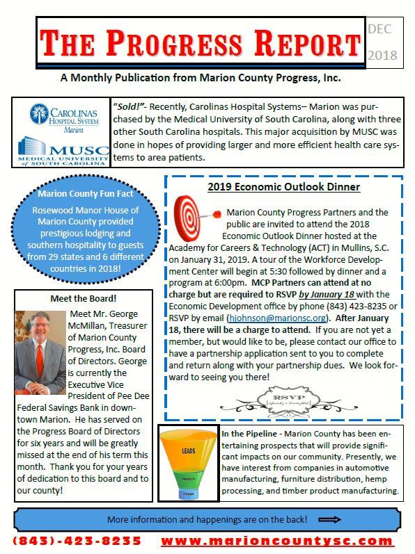 December Newsletter (front)